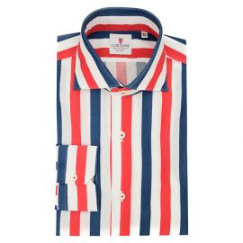 Cordone 1956 Giro Inglese Big Striped Red and Blue Limited Edition Shirt