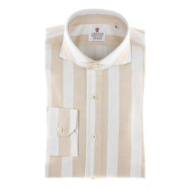 CORDONE 1956 Giro Inglese Big Stripes Beige Limited Edition Shirt