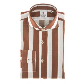 CORDONE 1956 Giro Inglese Big Stripes Bordeaux Limited Edition Shirt