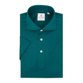 CORDONE 1956 Green Cotton Short Sleeve Polo Shirt