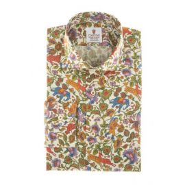 CORDONE 1956 Las Vegas Multicolor Printed Cotton Limited Edition Shirt