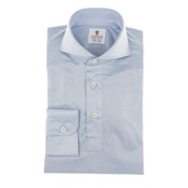 CORDONE 1956 Light Azure Cotton Jersey Polo Shirt