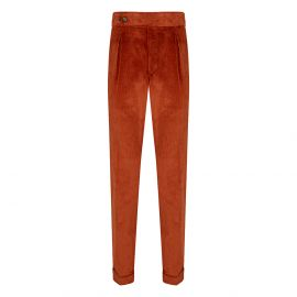 CORDONE 1956 Orange Velvet Trousers
