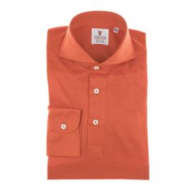 CORDONE 1956 Red Cotton Jersey Polo Shirt