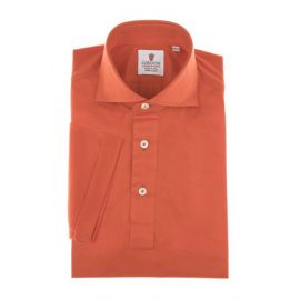CORDONE 1956 Red Cotton Jersey Short-Sleeve Polo Shirt