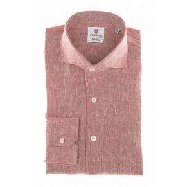 CORDONE 1956 Red Linen Shirt