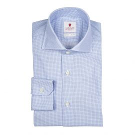 CORDONE 1956 REZA Pied de Poule Azure Shirt