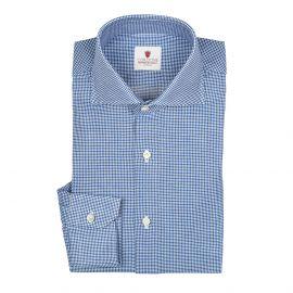 CORDONE 1956 REZA Pied de Poule Blue Shirt