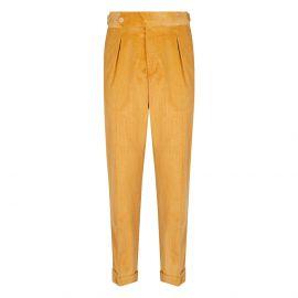 CORDONE 1956 Yellow Velvet Trousers