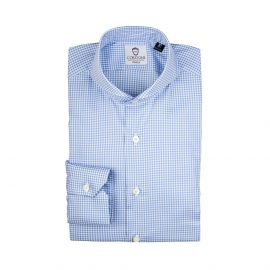 OXFORD Azure Gingham Checked Cotton Shirt
