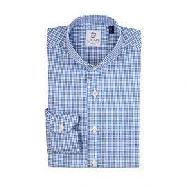 OXFORD Blue Gingham Checked Cotton Shirt