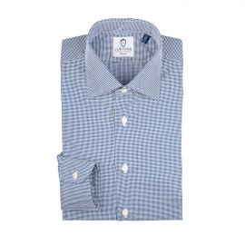 PIQUET Blue Polka Dots Cotton Shirt