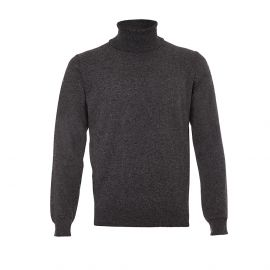 Grey Wool&Cashmere Turtle-Neck Pullover