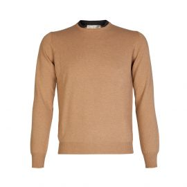 Camel Wool&Cashmere Double Round-Neck Pullover