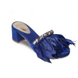 EMANUELA CARUSO BLUE Suede Sandals