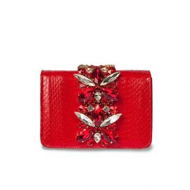 EMANUELA CARUSO CAPRI Red Leather Shoulder Bag