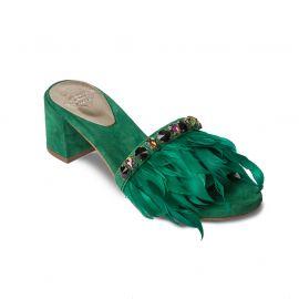 EMANUELA CARUSO GREEN Suede Sandals