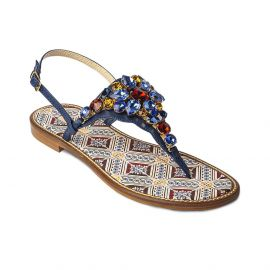 EMANUELA CARUSO MULTICOLOR Mattonella Leather Sandals