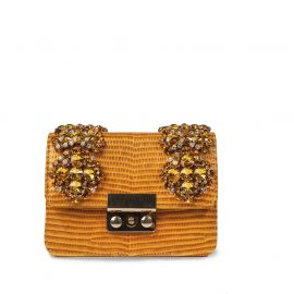EMANUELA CARUSO MYKONOS Orange Leather Shoulder Bag