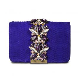 EMANUELA CARUSO POSITANO Purple Nabuk Shoulder Bag