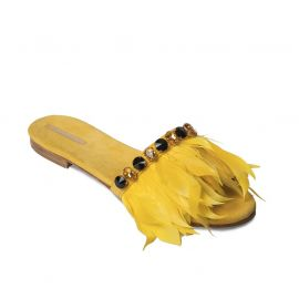 EMANUELA CARUSO YELLOW Suede Sandals
