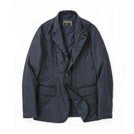 Blue Wool-Blend Tech Jacket