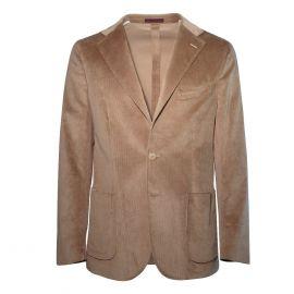 FINAEST Beige Loro Piana Fabric Single-Breasted Jacket