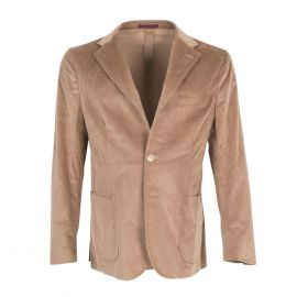 FINAEST Beige Loro Piana Fabric Single-Breasted Jacket