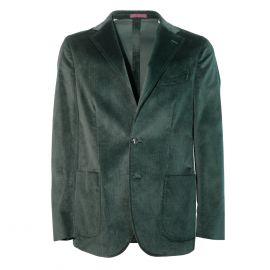 FINAEST Dark Green Loro Piana Fabric Single-Breasted Jacket