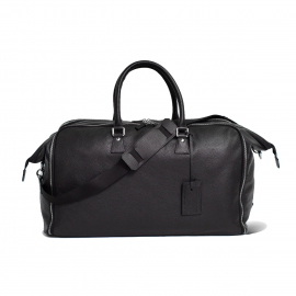 LUDOVICO MARABOTTO FLAMINGO Black Leather/Japan '800 Weekend Bag