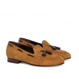 GIANLUCA GALLO BRERA Tobacco Suede Loafers