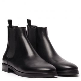 GIANLUCA GALLO Moscova Black Leather Chelsea Boots