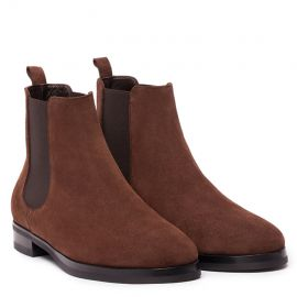 GIANLUCA GALLO Moscova Chocolate Suede Chelsea Boots