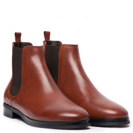 Moscova Light Brown Leather Chelsea Boots