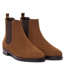 GIANLUCA GALLO Moscova Tobacco Suede Chelsea Boots