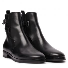 GIANLUCA GALLO Vienna Black Leather Chelsea Boots