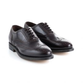 Burgundy Calf Leather Brogues Shoes