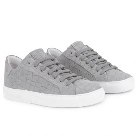 CROCO Grey Low Top Sneakers