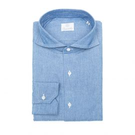 DEAN DENIM Chambray Cotton Shirt