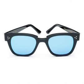 KYME SUNGLASSES Ricky Black Frame with Sky Blue Lenses