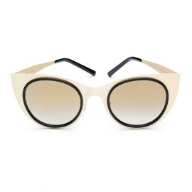 KYME SUNGLASSES Angel Light Satin Gold Frame with Flash Gold Lenses