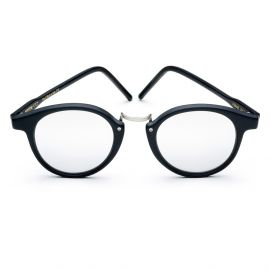 FRANK Matt Black Frame with Silver Mirrored Lenses