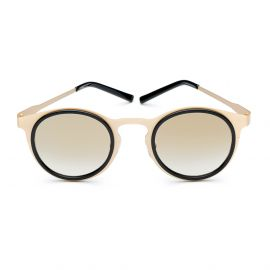 MIKI LIGHT Satin Gold Frame with Flash Gold Lenses