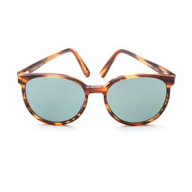 KEREN Havana Flamed Frame with Acquamarine Polarized Lenses