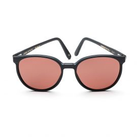 KEREN Matte Black Frame with Vermillion Polarized Lenses