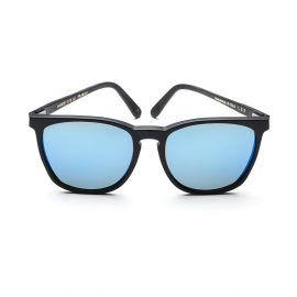 NAIROBI Matte Black Frame with Polarized Blue Mirrored Lenses