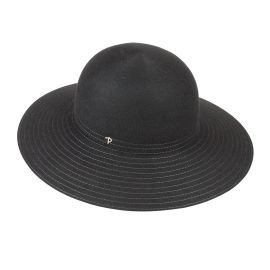 LAURA Black Felt Hat