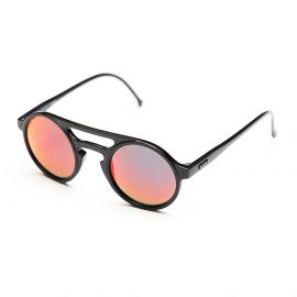 LEMURE Black Frame with Red Mirrored Lenses