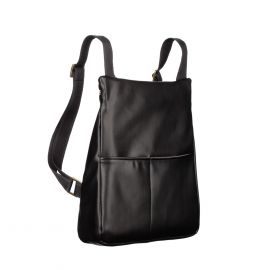 MANTICO Black Nappa Memo Zayno Backpack