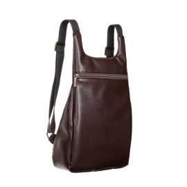 MANTICO Grained Brown Leatherette Classy Zayno Backpack